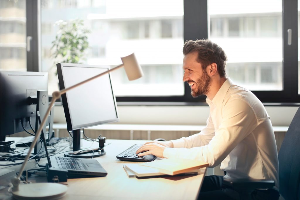 Man on a Desktop